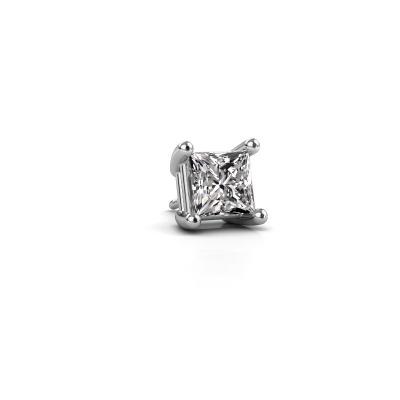 Photo de Boucle d'oreille homme Dave SQR 585 or blanc diamant 0.50 crt