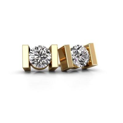 Foto van Oorstekers Lieve 585 goud diamant 0.40 crt