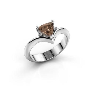 Foto van Ring Arlette 950 platina bruine diamant 0.915 crt
