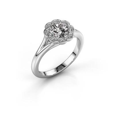 Aanzoeksring Claudine 585 witgoud diamant 0.84 crt