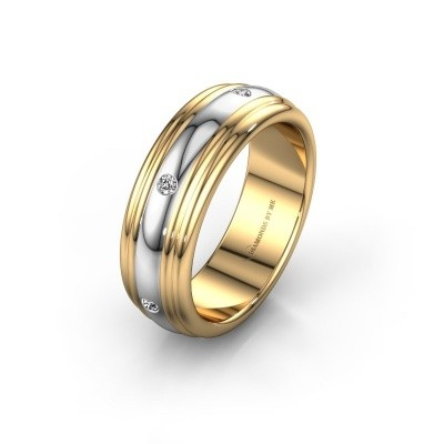 Wedding ring WH2236L 585 gold zirconia ±6x2.2 mm