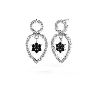 Foto van Oorhangers Lauralee 2 925 zilver zwarte diamant 1.194 crt