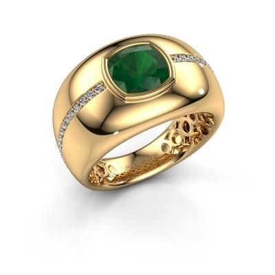 Bild von Ring Sydney 375 Gold Smaragd 7.5 mm