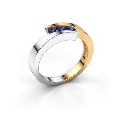 Foto van Ring Gracia 585 goud saffier 2.7 mm