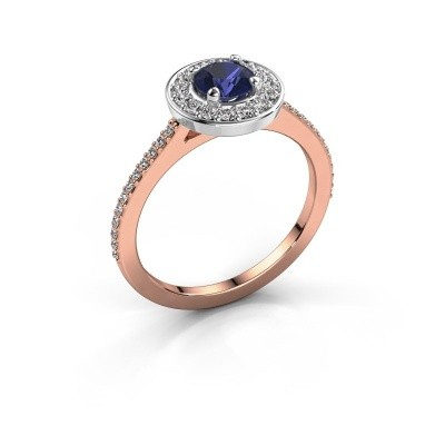 Ring Agaat 2 585 rose gold sapphire 5 mm