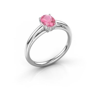 Verlobungsring Haley OVL 1 950 Platin Pink Saphir 7x5 mm