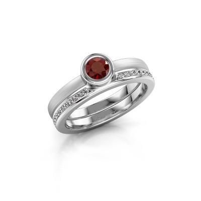 Picture of Ring Cara 950 platinum garnet 4 mm