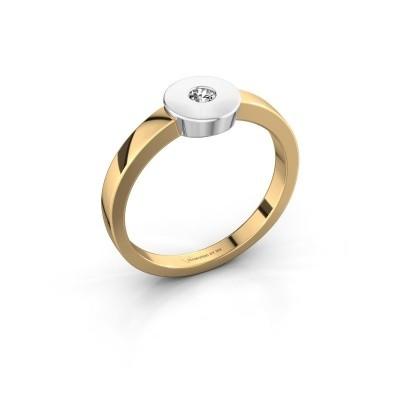 Ring Elisa 585 gold lab-grown diamond 0.10 crt