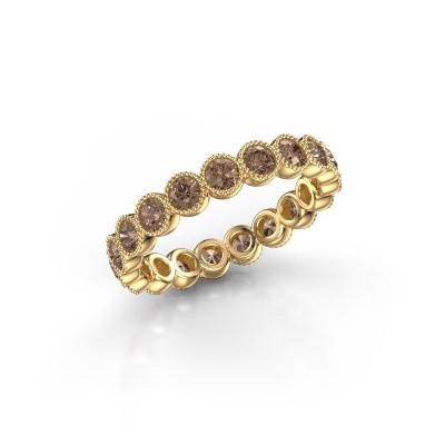 Foto van Ring Mariam 0.07 375 goud bruine diamant 1.52 crt