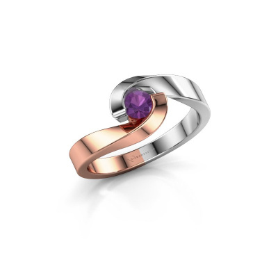 Picture of Engagement ring Sheryl 585 rose gold amethyst 3.7 mm
