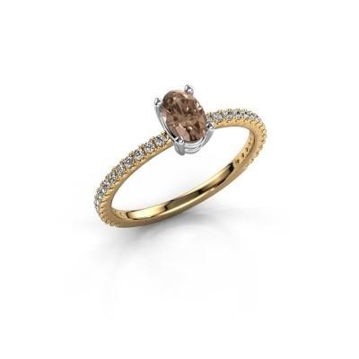 Foto van Verlovingsring Lynelle 2 585 goud bruine diamant 0.50 crt