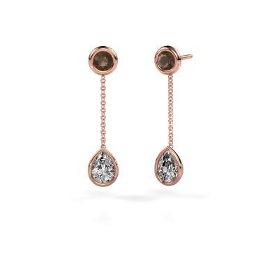 Drop earrings Ladawn 585 rose gold diamond 0.65 crt