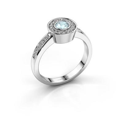 Ring Adriana 2 925 silver aquamarine 4 mm