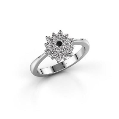 Verlovingsring Vickey 1 950 platina zwarte diamant 0.03 crt