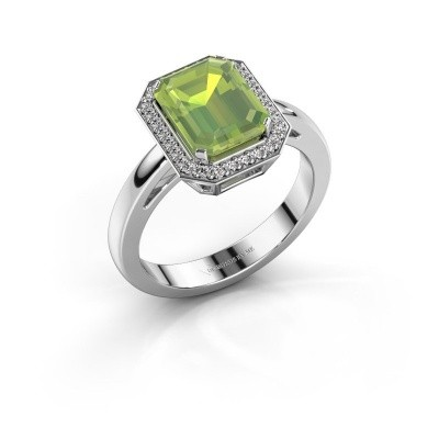 Picture of Engagement ring Dodie 1 925 silver peridot 9x7 mm
