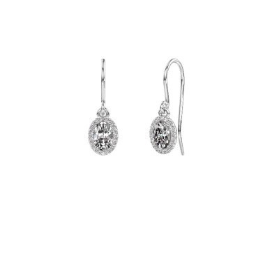 Picture of Drop earrings Seline ovl 585 white gold lab-grown diamond 1.16 crt