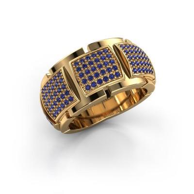 Ring Laura 375 goud saffier 1 mm