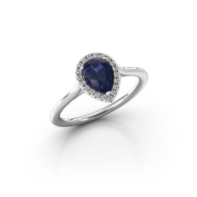 Engagement ring Seline per 1 925 silver sapphire 7x5 mm