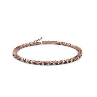 Tennis bracelet Simone 375 rose gold black diamond 2.376 crt