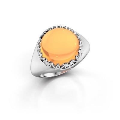 Foto van Ring Birgit 950 platina citrien 12 mm