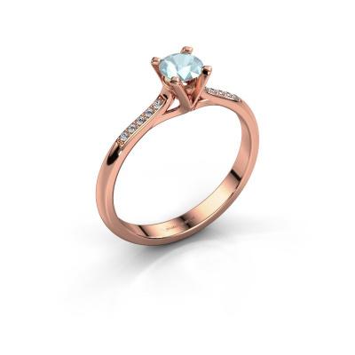Picture of Engagement ring Isa 2 585 rose gold aquamarine 4.2 mm