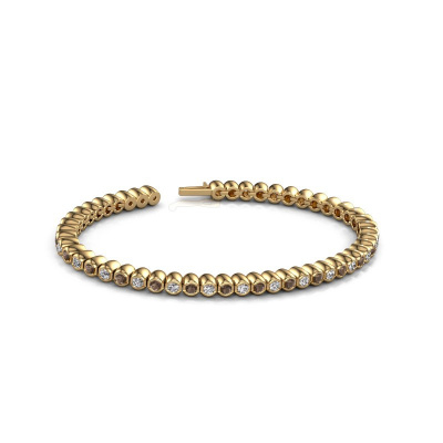 Foto van Tennisarmband Bianca 2.4 mm 375 goud rookkwarts 2.4 mm