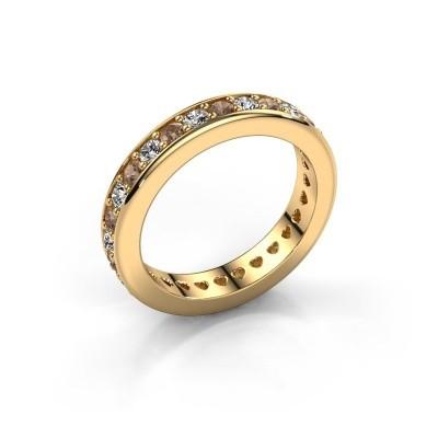 Aanschuifring Nienke 375 goud bruine diamant 1.26 crt