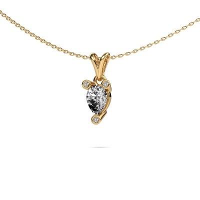 Foto van Ketting Cornelia Pear 375 goud diamant 0.67 crt