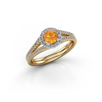 Verlovingsring Verla 2 585 goud citrien 4.7 mm