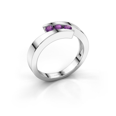 Picture of Ring Gracia 925 silver amethyst 2.7 mm
