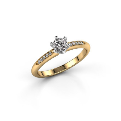Picture of Engagement ring Tiffy 2 585 gold diamond 0.30 crt