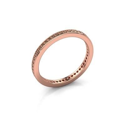 Aanschuifring Elvire 1 375 rosé goud bruine diamant 0.328 crt