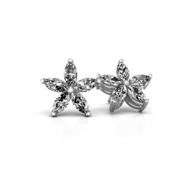 Oorstekers Sylvana 585 witgoud lab-grown diamant 1.40 crt