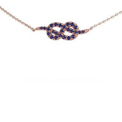 Collier barre Infinity 1 375 or rose saphir 1.1 mm