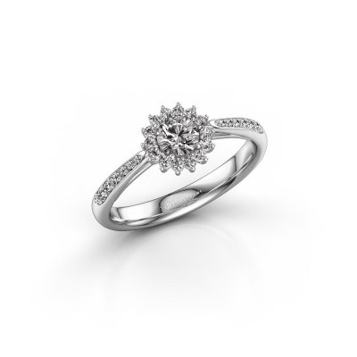 Verlovingsring Tilly RND 2 925 zilver diamant 0.25 crt