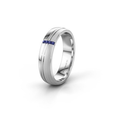 Weddings ring WH0909L25X 925 silver sapphire ±0.20x0.06 in