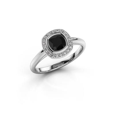 Foto van Verlovingsring Noud cus 1 585 witgoud zwarte diamant 0.834 crt