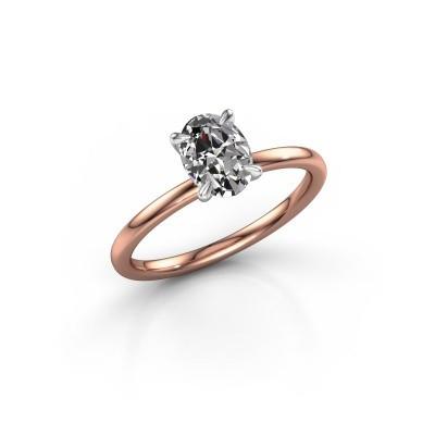 Foto van Verlovingsring Crystal OVL 1 585 rosé goud diamant 1.00 crt