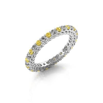 Stackable ring Rufina 3 585 white gold yellow sapphire 1.9 mm