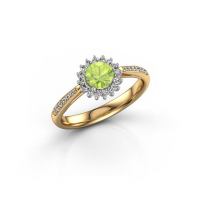 Engagement ring Tilly RND 2 585 gold peridot 5 mm