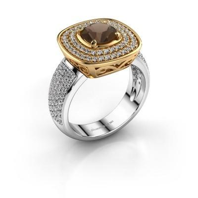 Ring Eliana 585 goud rookkwarts 6 mm