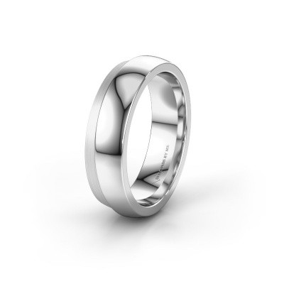 Wedding ring WH6004M26C 585 white gold ±6x2.2 mm