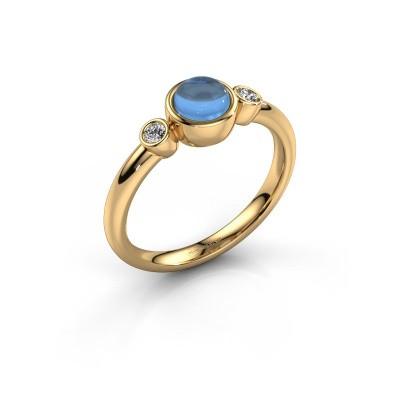 Ring Muriel 585 gold blue topaz 5 mm