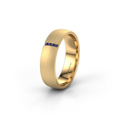 Wedding ring WH0154L25XM 375 gold sapphire ±0.20x0.05 in