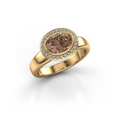 Foto van Ring Salena 585 goud bruine diamant 1.15 crt