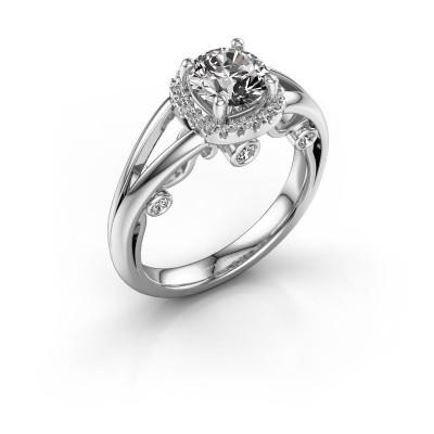 Verlovingsring Carina 950 platina diamant 1.21 crt