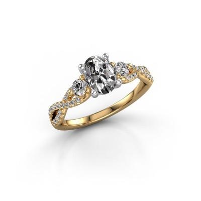 Foto van Verlovingsring Marilou OVL 585 goud diamant 1.360 crt