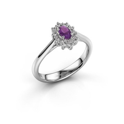 Picture of Engagement ring Leesa 1 950 platinum amethyst 5x4 mm