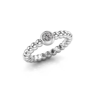 Picture of Stackable ring Dini 950 platinum lab-grown diamond 0.10 crt