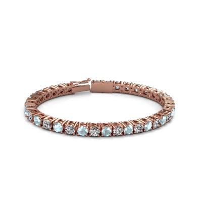 Picture of Tennis bracelet Karin 5 mm 375 rose gold aquamarine 5 mm